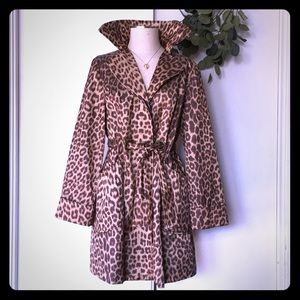 Satin Leopard trench, 14